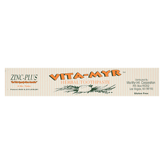 Vita-Myr - Zinc Plus Herbal Toothpaste - 4oz