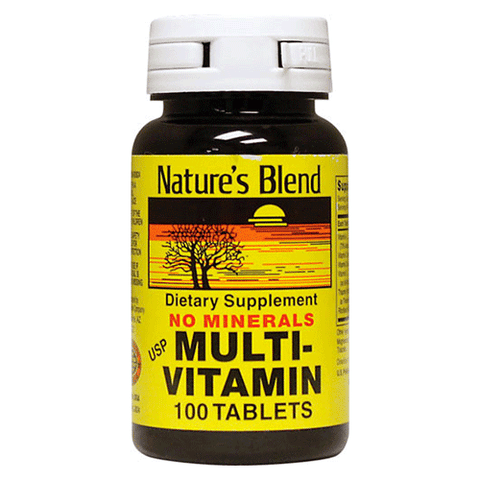 Nature's Blend - No Minerals Multi-Vitamin - 100 tabs