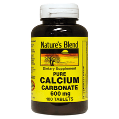 Nature's Blend - Calcium Carbonate - 600mg - 100 tabs