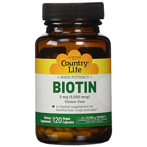 Country Life - Biotin - 5mg - 120 Vegi Caps