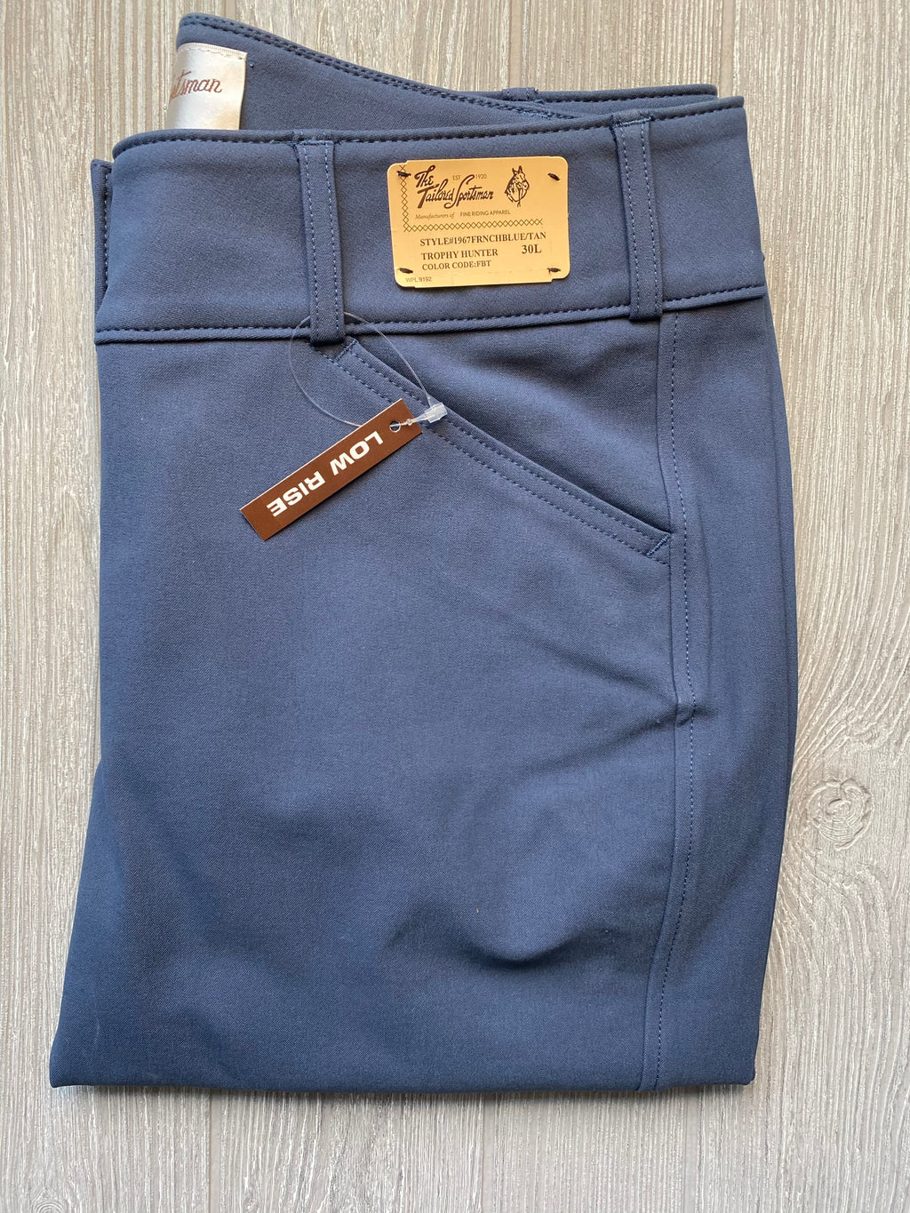 The Tailored Sportsman Trophy Hunter - French blue/ tan~ LOW RISE