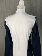 Cavalleria Toscana Perforated Jersey Zip Training top