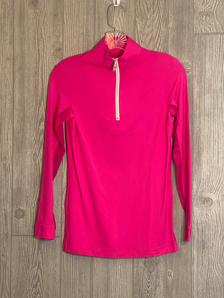 The Tailored Sportsman Ice Fill sun shirt ~ Barbie Pink with silver Zipper