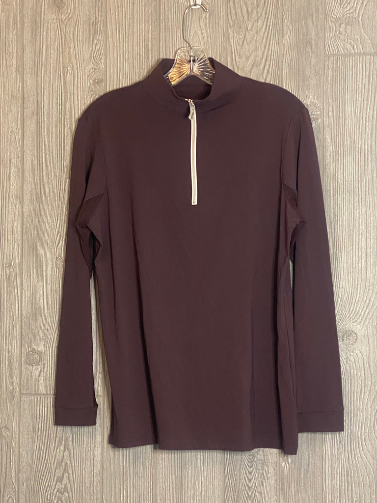 The Tailored Sportsman Ice Fill Sun Shirt ~ Boysenberry with silver zipper