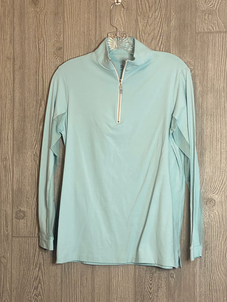 The Tailored Sportsman Ice Fill Sun Shirt ~ Blue Heaven with silver zipper