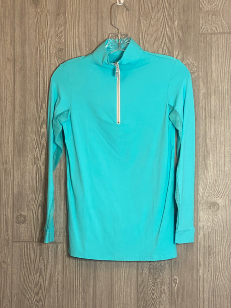 The Tailored Sportsman Ice Fill Sun Shirt ~ Fiji with silver zipper