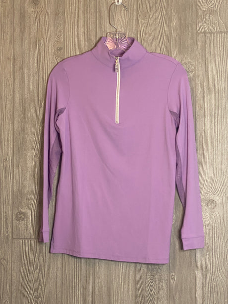 The Tailored Sportsman Ice Fill Sun Shirt ~Orchid with silver zipper