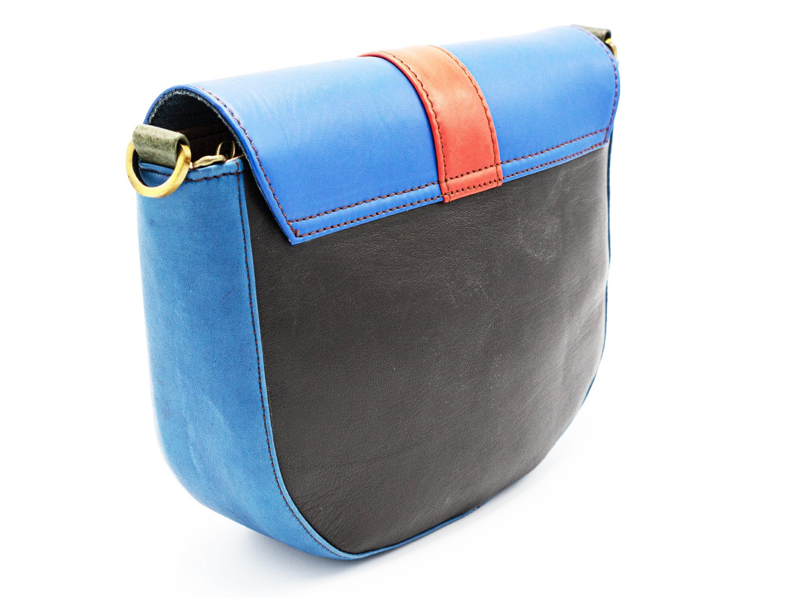 Unique Recycled Leather Clutch|  Orange Handbag One of a Kind