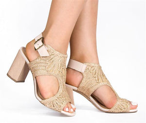 Gaspea Nude Rose Sandals T1945