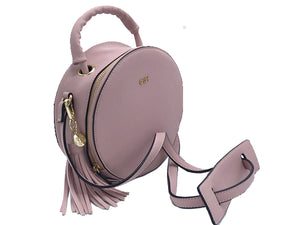Pink Circular Crossbody Leather HandBag | Women's Exclusive Bags
