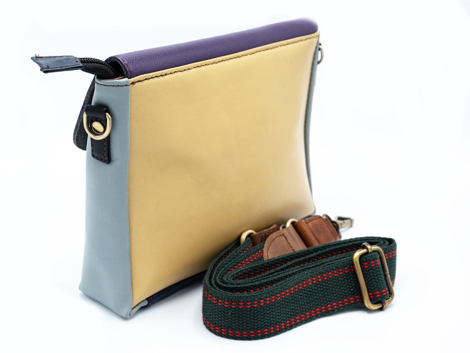 Pastel Leather Pochette Bag | Hand Crafted Multicolor Clutch