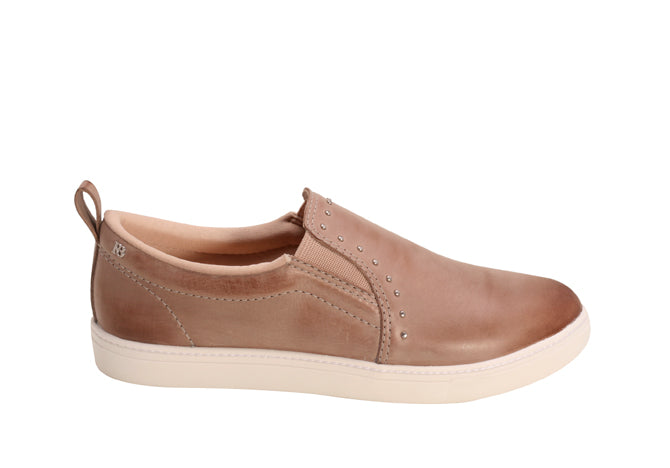 Caramel Leather Slip-on Loafers | Women's Cocktail Sneaker shoe