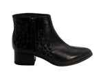 Napa Black Beaded Low Heeled Ankle Bootie | women's low/medium heel