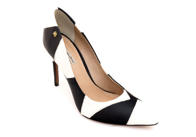 PUMPS GEOMETRIC  BLACK&WHITE - DPARZ