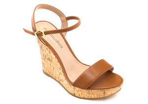 SANDAL WEDGE WHISKY - DPARZ