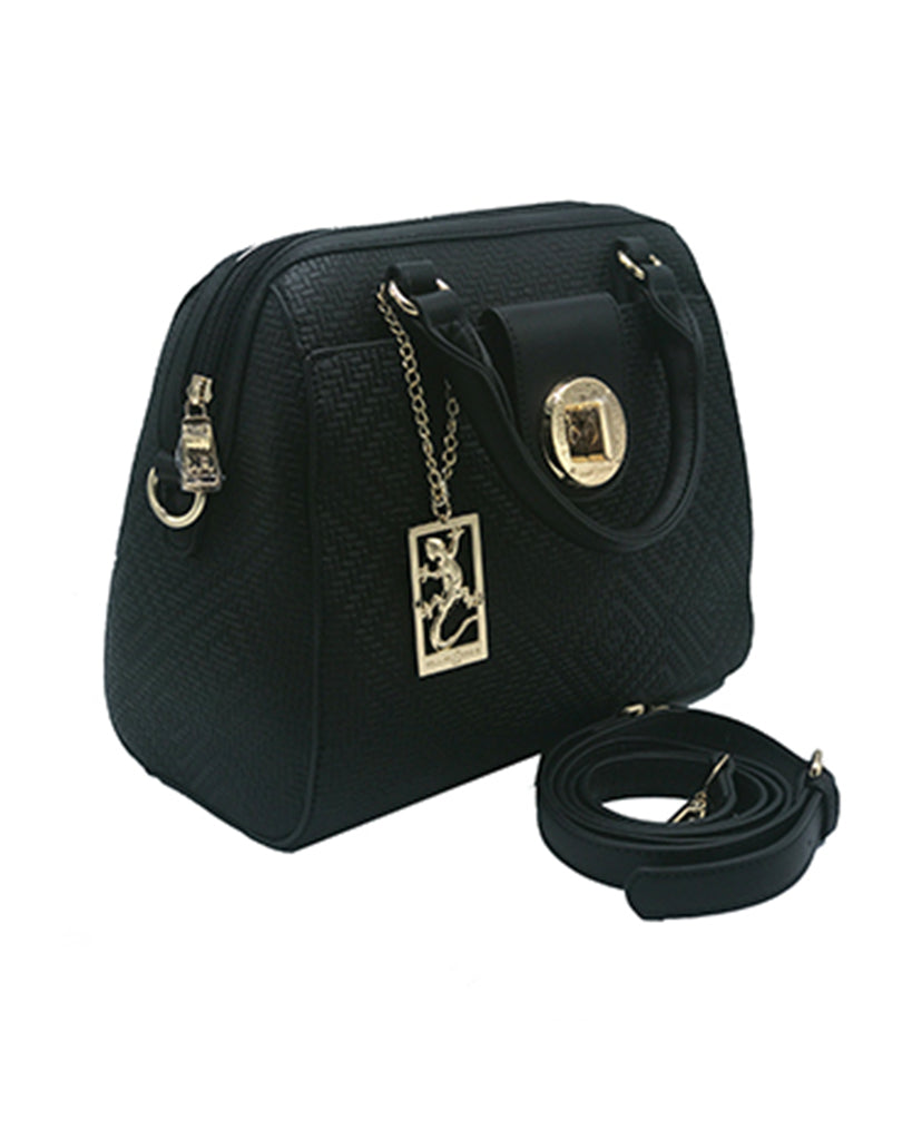 Black Satchel lock front handbag | Women's Exclusive Bags