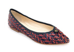FLAT POINTED TOE RUBY & NAVY - DPARZ