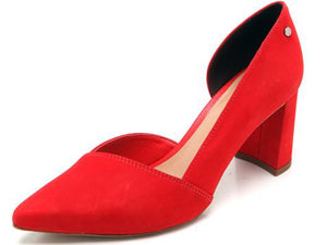 Red Pointed Toe Heel | Block heel | Women's Heels