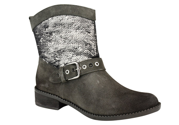 SUEDE GREY SUEDE ANKLE BOOT