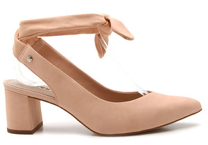 Sophia Suede Blush Pumps