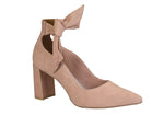 Liz nude bow tie ankle pump heel | women's shoes