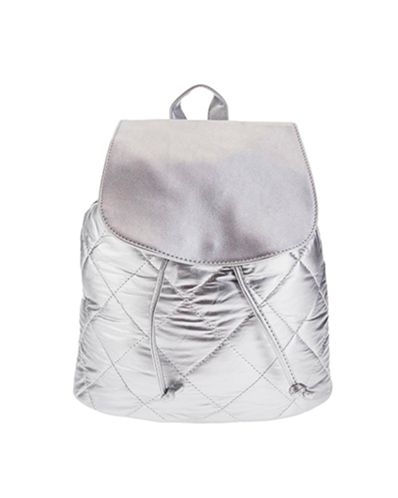 Vega Silver Quilted Backpack