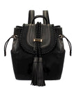Black Bohemian Leather Backpack | Women's Handbags
