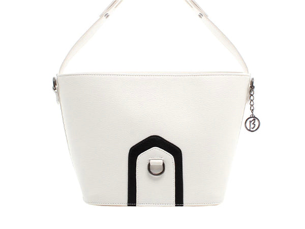 Corinne White Crossbody Tote
