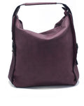 Burgundy Shoulder Leather Handbag| Women's large tote