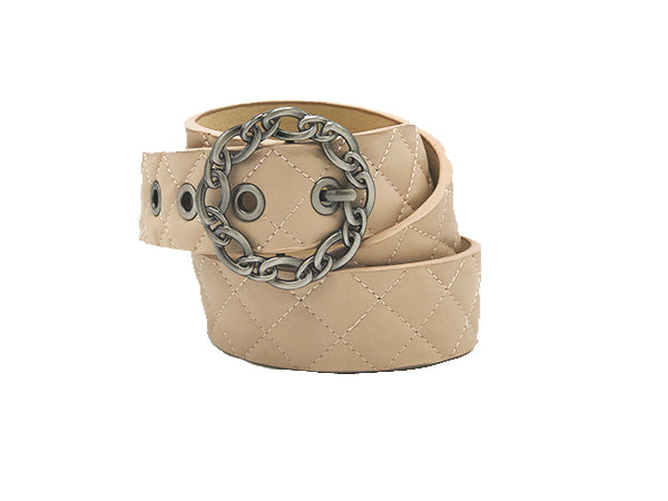 Bri Nude Leather Belt