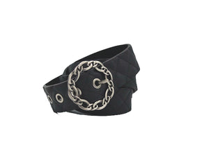 Bri Black Leather Belt