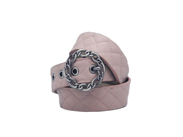 Bri Blush Leather Belt