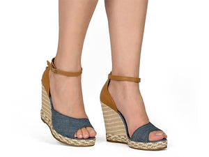 Denim High Wedge  | Women's Wedge Sandal