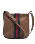 Sally Brown Striped Crossbody