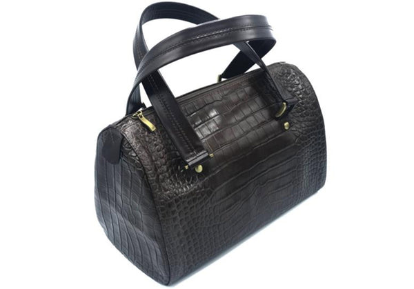 HANDBAG CROCO BROWN DS2686