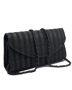 Zoey Black Envelope Clutch Bag