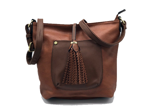Brown Mini Leather Crossbody | Dparz Women's Handbags