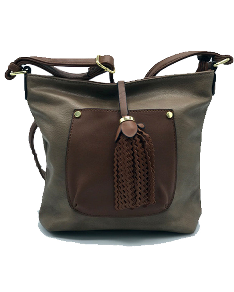 Chocolatte Mini Leather Crossbody | Dparz Women's Handbags