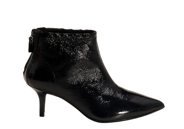 Black Patent leather Kitten Heel  Bootie | Brazilian Made