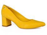 Yellow Pointed Toe Suede Pump| Women Shoes