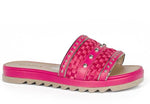 Hot Pink Woven Slides I Women's Flats