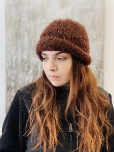 Brown Knit Cashmere Hat