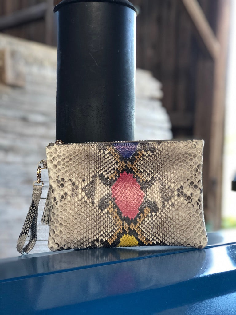 Eden Wristlet Natural multicolor