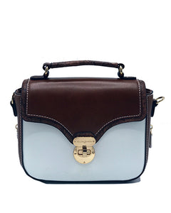 White Satchel lock front handbag | Women's Exclusive Bags