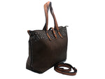 Anna Chocolate Jeweled Tote