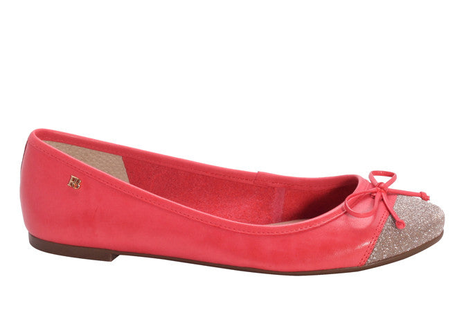 FLAT BALLERINA CORAL SHIMMER TOE - DPARZ