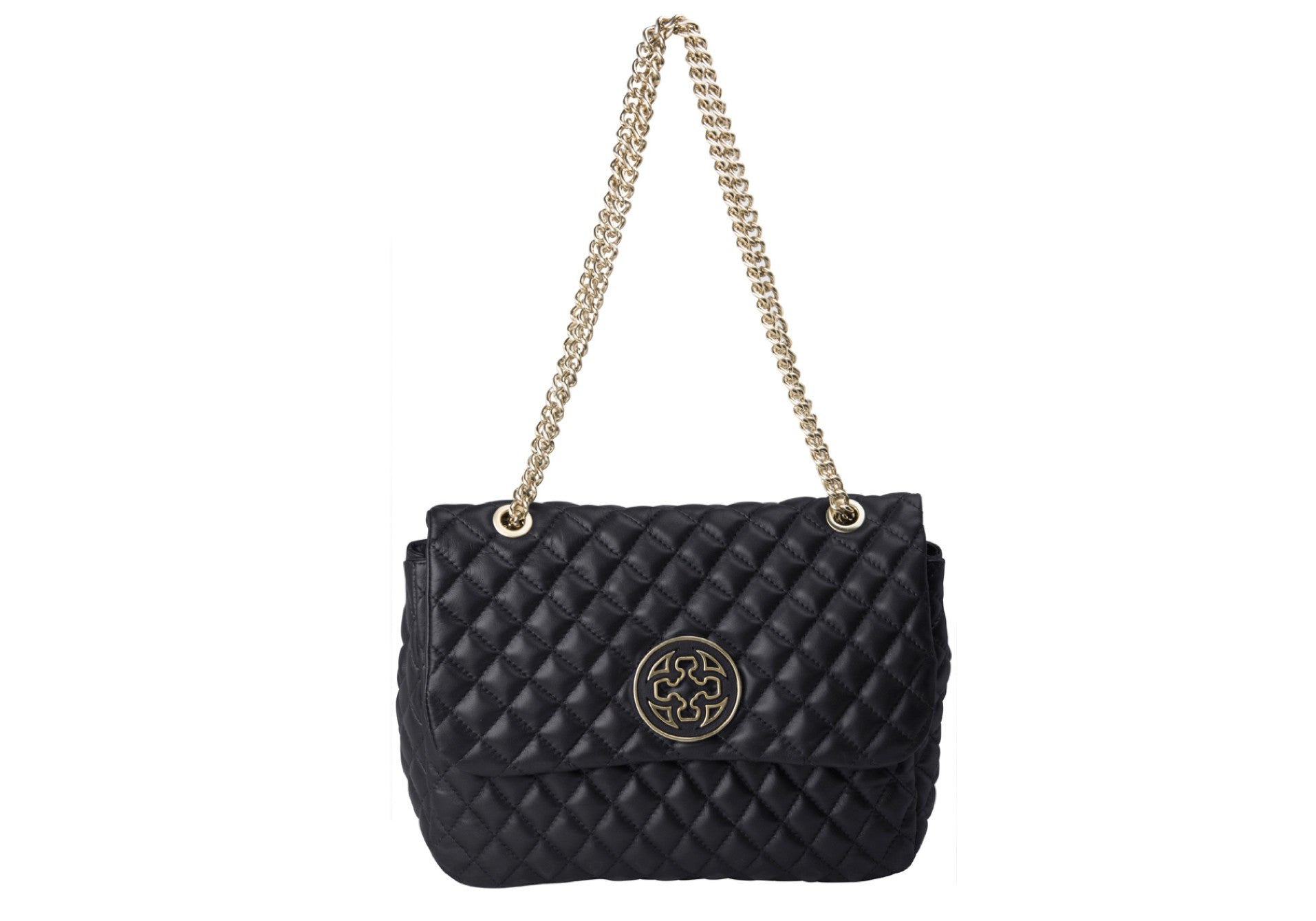 BOY FLAP QUILTED BLACK HANDBAG - DPARZ