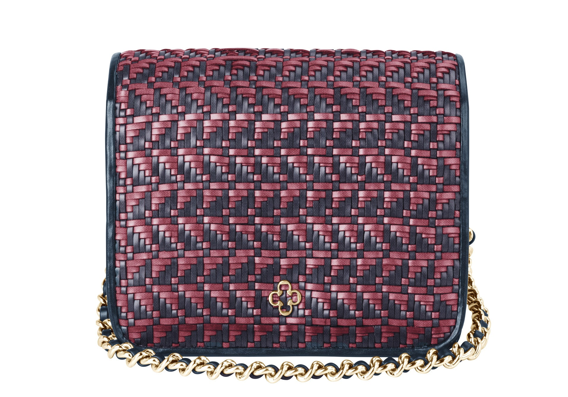 Pop Crossbody Leather Mini Ruby Navy - DPARZ