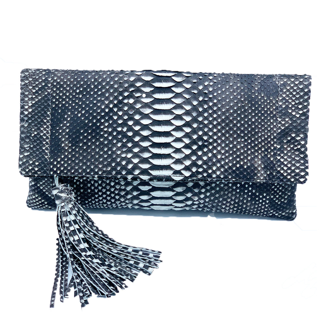 CAMILLA - Black & White Clutch