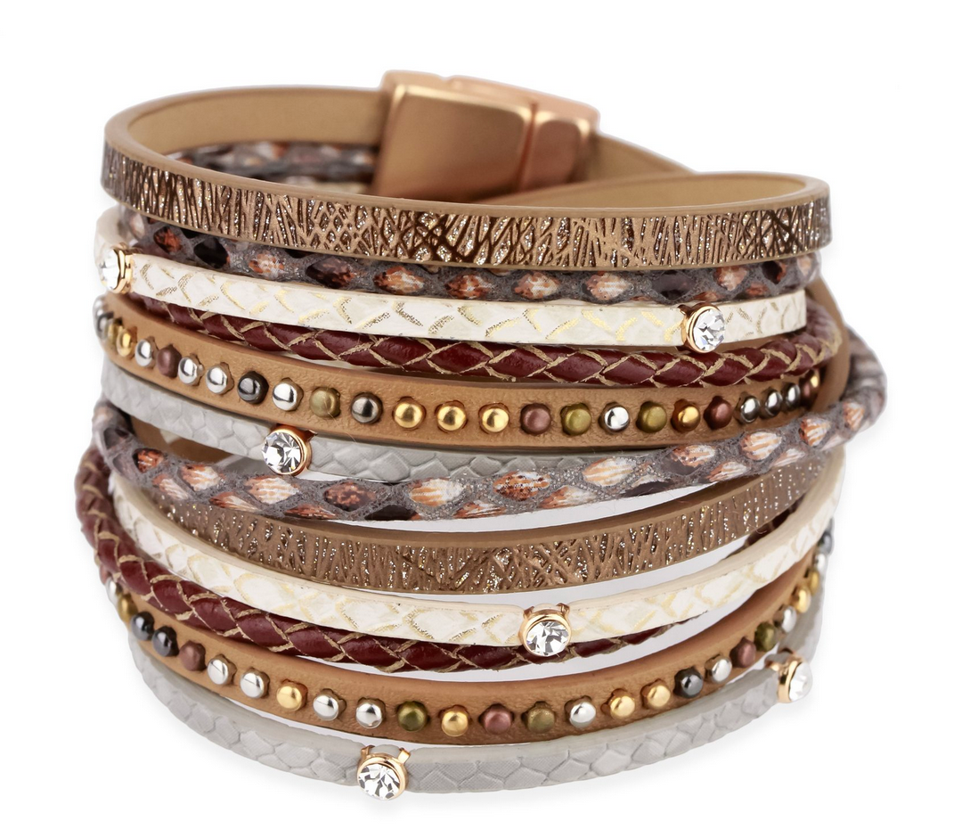 GLADIATOR LEATHER  BRACELET NEUTRAL
